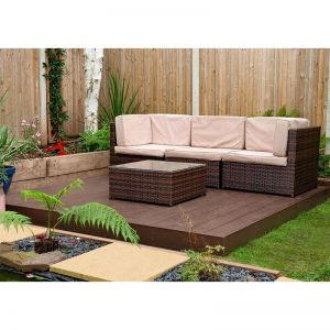 Forest 8' x 8' Composite Decking Kit - Brown (2.4m x 2.4m)