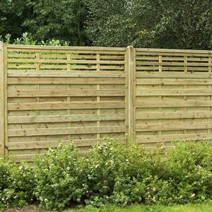 6ft x 6ft (1.8m x 1.8m) Pressure Treated Decorative Kyoto Fence Panel