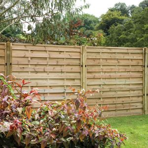 6ft x 5ft (1.8m x 1.5m) Pressure Treated Decorative Europa Plain Fence Panel
