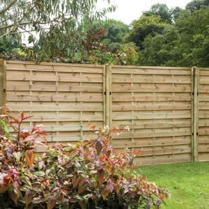 6ft x 6ft (1.8m x 1.8m) Pressure Treated Decorative Europa Plain Fence Panel