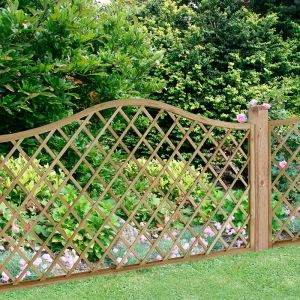 Forest 6' x 3' Pressure Treated Europa Hamburg Decorative  Garden Screen Panel (1.8m x 0.9m)