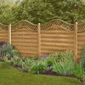 6ft x 6ft (1.8m x 1.8m) Pressure Treated Decorative Europa Prague Fence Panel