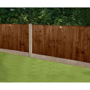 Forest 6' x 3' Pressure Treated Featheredge Fence Panel (Dark Brown) (1.83m x 0.93m)