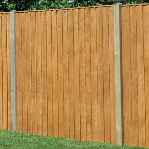 6ft x 6ft (1.83m x 1.85m) Featheredge Fence Panel