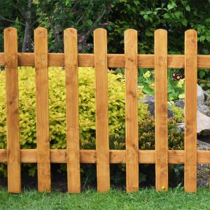 6ft x 3ft (1.83m x 0.9m) Pale Picket Fence Panel