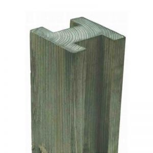 Reeded Slotted Post 8ft - 240 x 9.4 x 9.4cm