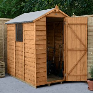 6' x 4' Forest Overlap Dip Treated Apex Wooden Shed