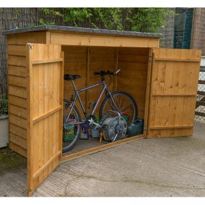 6x3 Forest Double Door Overlap Wooden Bike Shed