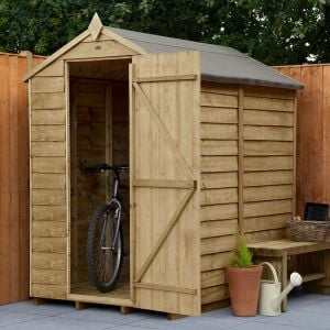 6' x 4' Forest Overlap Pressure Treated Windowless Apex Wooden Shed