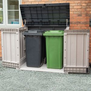 Toomax Extra Large Grey 1200L Plastic Outdoor Garden Storage Unit / Bin Store