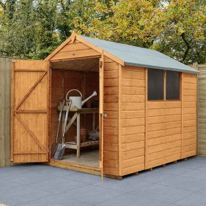 8' x 6' Forest Shiplap Dip Treated Double Door Apex Wooden Shed