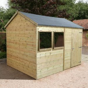 10' x 6' Shed-Plus Champion Heavy Duty Reverse Apex Single Door Shed