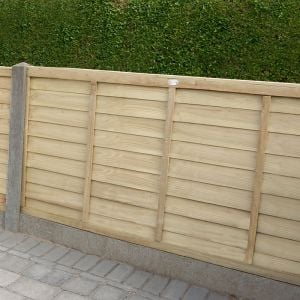 6ft x 3ft (1.83m x 0.91m) Pressure Treated Superlap Fence Panel