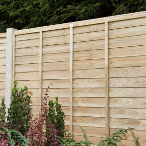 6ft x 5ft (1.83m x 1.52m) Pressure Treated Superlap Fence Panel