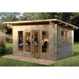 Forest Melbury 4m x 3m Log Cabin (34mm) - Single Glazed