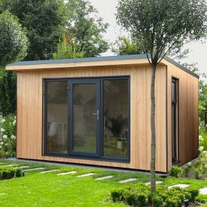 Forest Xtend 4 Insulated Garden Office 4.05m x 3.42m (97mm) 13'3 x 11'3