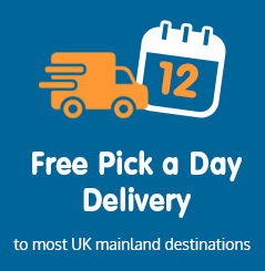 Pick a day delivery to most UK mainland destinations
