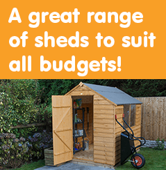 A great range of sheds to suit all budgets